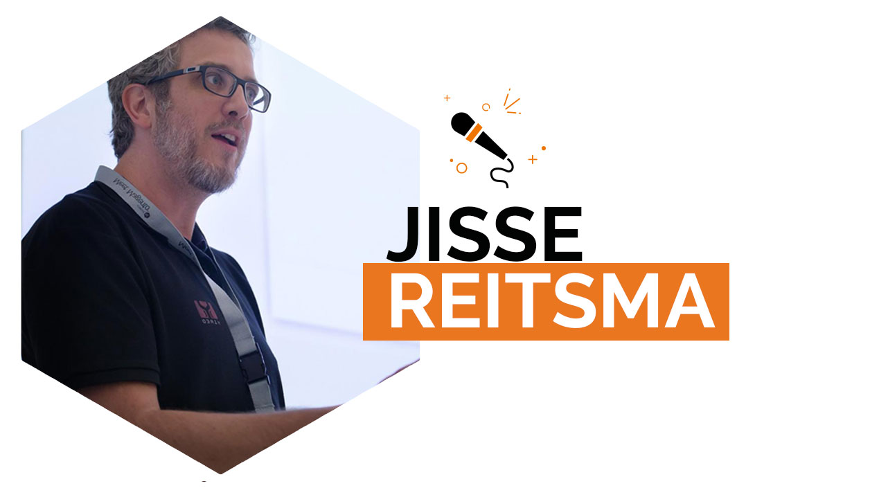 Our first speaker: Jisse Reitsma Magento Master 2017
